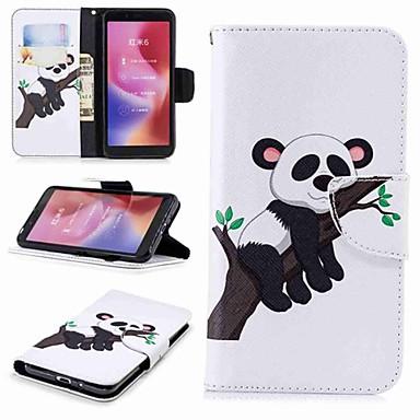 غطاء من أجل Xiaomi Redmi Note 5A / Xiaomi Redmi Note 5 Pro / Xiaomi Redmi Note 4X محفظة / حامل البطاقات / مع حامل غطاء كامل للجسم باندا قاسي جلد PU