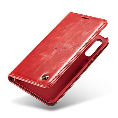 CaseMe غطاء من أجل Huawei P20 Pro محفظة / حامل البطاقات / قلب غطاء كامل للجسم لون سادة قاسي جلد PU إلى Huawei P20 / Huawei P20 Pro / Huawei P20 lite