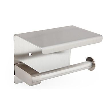 حاملة ورق التواليت تصميم جديد / كوول الحديث الفولاذ المقاوم للصدأ / الحديد 1PC حمالة ورق تواليت مثبت على الحائط