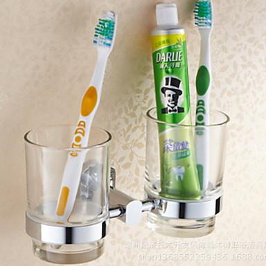 حاملة فرشاة الأسنان تصميم جديد أنتيك نحاس 1PC فرشاة الأسنان وملحقاتها مثبت على الحائط