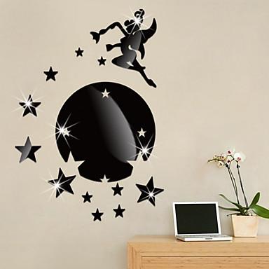 لواصق حائط مزخرفة - ملصقات الحائط على المرآة عطلة غرفة الجلوس