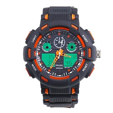 levne Pánské-SMAEL Pánské Sportovní hodinky Digitální hodinky japonština Digitální Černá 50 m Voděodolné Kalendář Chronograf Analog - Digitál Módní - Černá / Modrá Orange / Black / Svítící