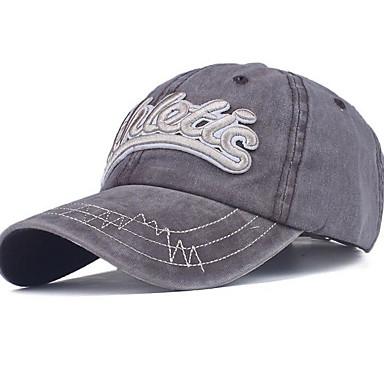 أزرق البحرية رمادي نبيذ قبعة البيسبول طباعة رجالي بوليستر,أساسي