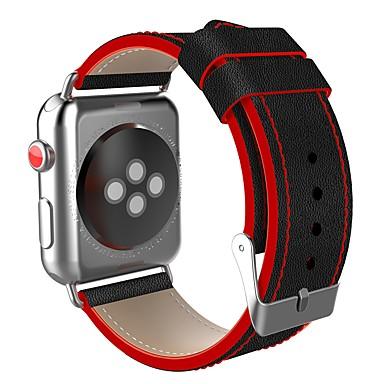 levne Pánské-Nerez Watch kapela Popruh pro Apple Watch Series 4/3/2/1 Černá / Červená 23cm / 9 palce 2.1cm / 0.83 palce