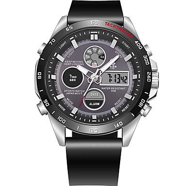 رجالي ساعة رياضية ساعة رقمية ياباني كوارتز جلد اصطناعي أسود 100 m مقاوم للماء رزنامه الكرونوغراف تناظري-رقمي كاجوال موضة - أسود أحمر / قضية