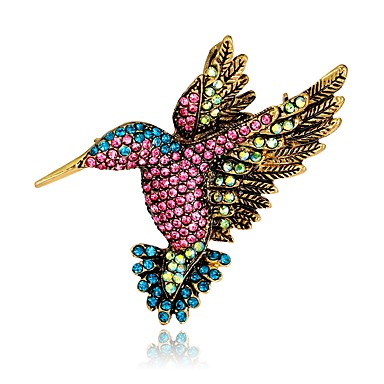 e7d57d281 cheap Brooches-Women's Brooches Vintage Style 3D Bird Animal Ladies  Unique