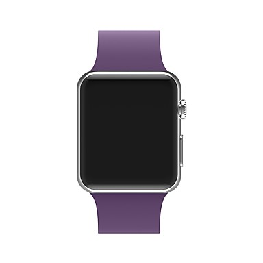 billige Herreure-silica Gel Urrem Strap for Apple Watch Series 4/3/2/1 Sort / Hvid / Blåt 23cm / 9 tommer 2.1cm / 0.83 Tommer
