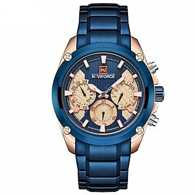 a021807da abordables Relojes de Hombre-NAVIFORCE Hombre Reloj de Vestir Reloj de Pulsera  Reloj de aviacion