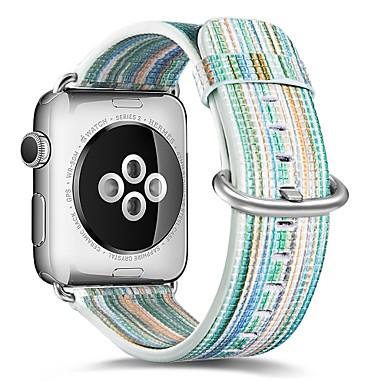 זול שעוני גברים-עור אמיתי צפו בנד רצועה ל Apple Watch Series 4/3/2/1 כחול 23cm / 9 אינץ ' 2.1cm / 0.83 אינצ'ים