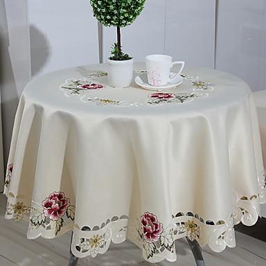 معاصر 100g / m2 البوليستر الإمتداد حك دائري قماش الطاولة هندسي الجدول ديكورات 1 pcs