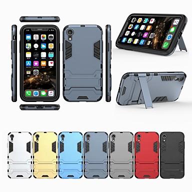 غطاء من أجل Apple iPhone XS / iPhone XR / iPhone XS Max مع حامل غطاء خلفي لون سادة قاسي الكمبيوتر الشخصي