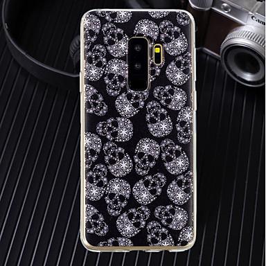 voordelige Galaxy J-serie hoesjes / covers-hoesje Voor Samsung Galaxy J8 / J7 (2017) / J6 Ultradun / Transparant / Patroon Achterkant Doodskoppen Zacht TPU