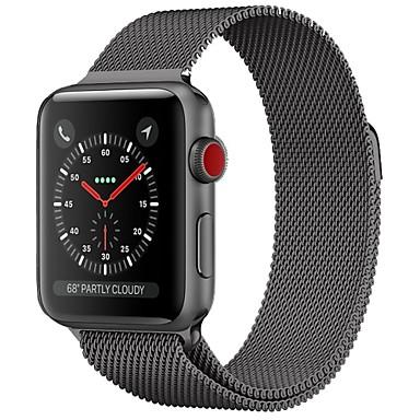 זול שעוני גברים-מתכת אל חלד צפו בנד רצועה ל Apple Watch Series 4/3/2/1 שחור / כחול / כסף 23cm / 9 אינץ ' 2.1cm / 0.83 אינצ'ים