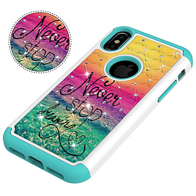 famose per Fantasia PC Per agli iPhone retro urti iPhone iPhone X Resistente Apple 8 iPhone 06915840 Resistente diamantini Custodia iPhone 8 Frasi Per Plus 8 Con disegno X qfnwAaxCPH