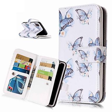 Недорогие Кейсы для iPhone-Кейс для Назначение Apple iPhone XS / iPhone XR / iPhone XS Max Кошелек / Бумажник для карт / со стендом Чехол Бабочка Твердый Кожа PU