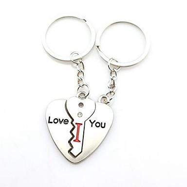 سلسلة المفاتيح قلب عدم تطابق خواتم مجوهرات فضي من أجل مناسب للبس اليومي