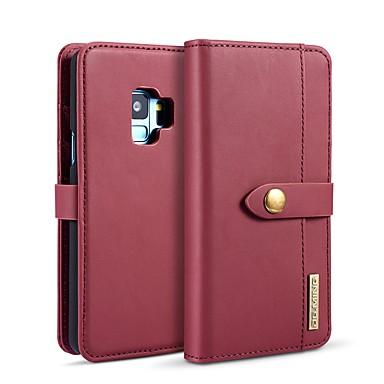 Недорогие Чехлы и кейсы для Galaxy S-DG.MING Кейс для Назначение SSamsung Galaxy S9 / S8 Кошелек / Бумажник для карт / со стендом Чехол Однотонный Твердый Кожа PU для S9 / S9 Plus / S8 Plus