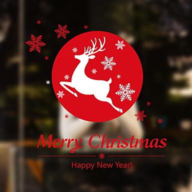 فيلم نافذة وملصقات زخرفة عيد الميلاد طباعة / عطلة PVC تصميم جديد / كوول / شوب / مقهى