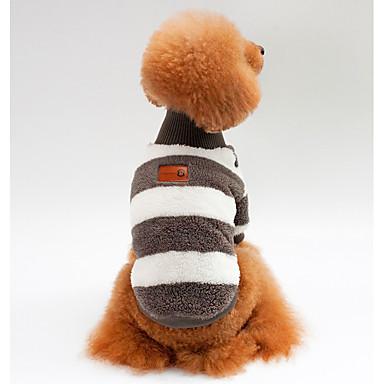 كلاب قطط كنزة ملابس الكلاب مخطط أزرق زهري أسود صوف مخمل 100% كوستيوم من أجل كلب البج Bichon فرايز أفطس الربيع الخريف للجنسين ستايل رياضي كاجوال / يومي