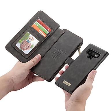 Недорогие Чехлы и кейсы для Galaxy Note-CaseMe Кейс для Назначение SSamsung Galaxy Note 9 / Note 8 Кошелек / Бумажник для карт / Флип Чехол Однотонный Твердый Кожа PU для Note 9 / Note 8 / Note 5