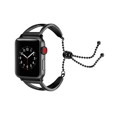 ستانلس ستيل حزام حزام إلى Apple Watch Series 4/3/2/1 أسود / فضة / ذهبي 23CM / 9 بوصة 2.1cm / 0.83 Inches