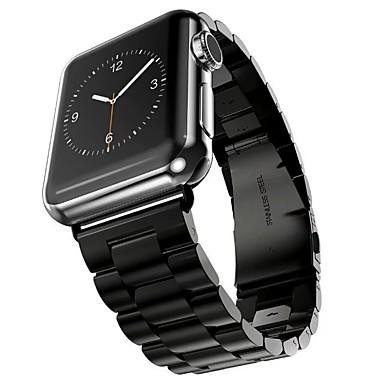 Ruostumaton teräs Watch Band Hihna varten Apple Watch Series 3 / 2 / 1 Musta / Hopea / Kulta 23cm / 9 Tuumaa 2.1cm / 0.83 tuumaa