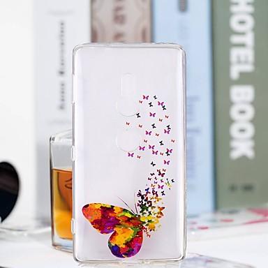 voordelige Hoesjes / covers voor Sony-hoesje Voor Sony Huawei P20 / Huawei P20 Pro / Huawei P20 lite Transparant / Patroon Achterkant Vlinder Zacht TPU