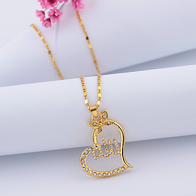 531c91b1c1d cheap Necklaces-Women's Cubic Zirconia Pendant Necklace Hollow Out  Heart Butterfly