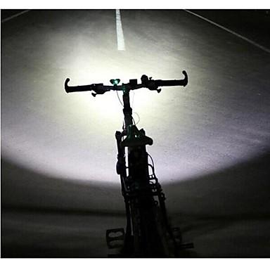 baratos Lanternas de Cabeça-LS070 Lanternas de Cabeça Luzes de Bicicleta Farol para Bicicleta Cree® XM-L U2 2 Emissores 5000/2500 lm Com Carregador Impermeável Resistente ao Impacto Recarregável Campismo / Escursão