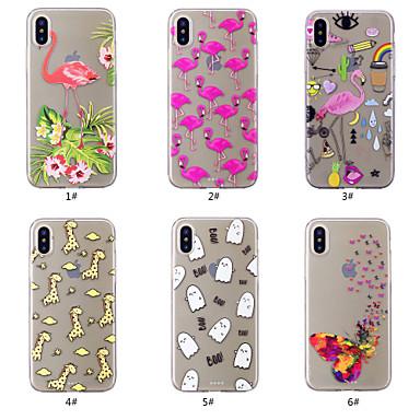 voordelige iPhone X hoesjes-hoesje Voor Apple iPhone XS / iPhone XR / iPhone XS Max Patroon Achterkant Vlinder / Flamingo / Cartoon Zacht TPU