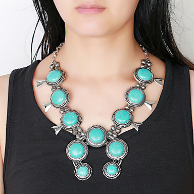 78d96de6b65869 cheap Jewelry Sets-Women's Turquoise Drop Earrings Pendant Necklace  Beads Ladies