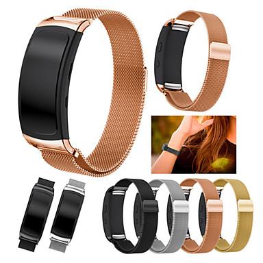 voordelige Horlogebandjes voor Samsung-Horlogeband voor Gear Fit 2 Samsung Galaxy Milanese lus Roestvrij staal Polsband
