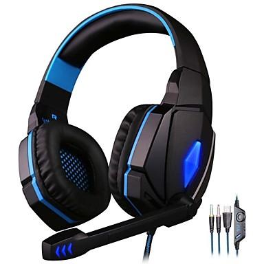 Недорогие Наушники для геймеров-KOTION EACH G4000 Игровая гарнитура Проводное Игры С микрофоном
