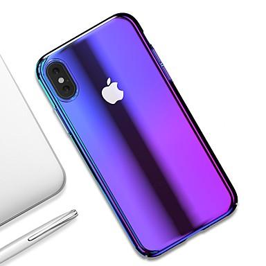Недорогие Кейсы для iPhone-Кейс для Назначение Apple iPhone XS / iPhone XR / iPhone XS Max Ультратонкий / Прозрачный Кейс на заднюю панель Градиент цвета Твердый ПК