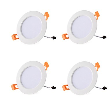 Χαμηλού Κόστους Φωτιστικά εσωτερικού χώρου-4pcs 7 W 700 lm 15 LED χάντρες Εύκολη Εγκατάσταση Χωνευτό LED Χωνευτό Σποτ Θερμό Λευκό Ψυχρό Λευκό 85-265 V Εμπορική Σπίτι / Γραφείο Σαλόνι / Τραπεζαρία / RoHs / CE