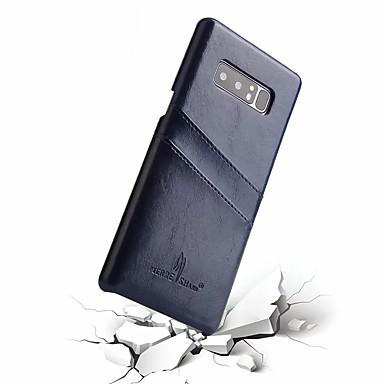 Недорогие Чехлы и кейсы для Galaxy Note-Кейс для Назначение SSamsung Galaxy Note 8 Бумажник для карт Кейс на заднюю панель Однотонный Твердый Настоящая кожа