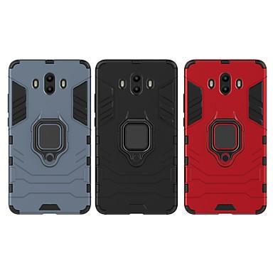 voordelige Huawei Mate hoesjes / covers-hoesje Voor Huawei Mate 10 Schokbestendig / Ringhouder Achterkant Effen / Schild Hard PC