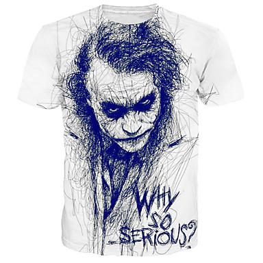 economico Abbigliamento uomo-T-shirt - Taglie forti Per uomo Essenziale / Moda città Con stampe, Ritratto Rotonda - Cotone Bianco XXXL / Manica corta