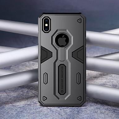 Недорогие Кейсы для iPhone-Кейс для Назначение Apple iPhone XR / iPhone XS Max Защита от удара Кейс на заднюю панель броня Твердый ПК