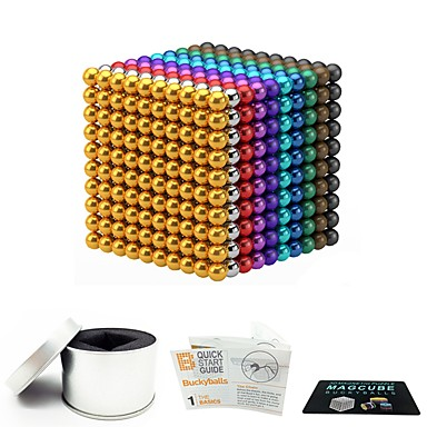 1000 pcs 3mm Magnet Toy Magnetic Balls Magnet Toy Super Strong Rare-Earth Magnets Magnetic Stress and Anxiety Relief Office Desk Toys Relieves ADD, ADHD, Anxiety, Autism Novelty Teenager / Adults' All