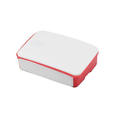 Ahududu pi 3b nesil 2 abs malzeme için özel muhafaza kutusu 26 * 96 * 71mm beyaz-kırmızı