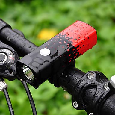 رخيصةأون اضواء الدراجة-اضواء الدراجة ضوء الدراجة الأمامي دراجة جبلية ركوب الدراجة ضد الماء محمول 18650 800 lm 18650 أبيض Camping / Hiking / Caving أخضر