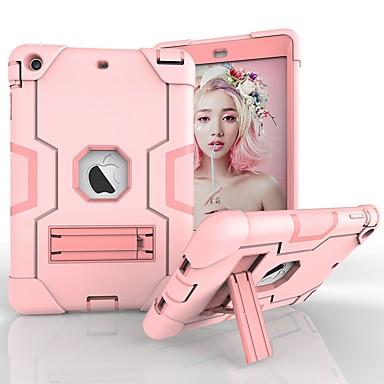 Maska Pentru Apple iPad Mini 3/2/1 / iPad Mini 5 / iPad nou de aer (2019) Anti Șoc / Anti Praf / Rezistent la Apă Carcasă Telefon Mată / Culoare Camuflaj / Model Geometric Greu PC / silicagel