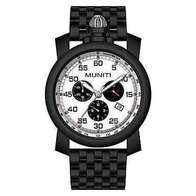 levne Pánské-Pánské Náramkové hodinky Křemenný Černá / Stříbro Hodinky na běžné nošení Cool Analogové Módní - Stříbrná stříbrná / černá Černá / Bílá