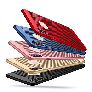 voordelige iPhone-hoesjes-hoesje Voor Apple iPhone XS / iPhone X / iPhone 8 Plus Ultradun Achterkant Effen Hard PC