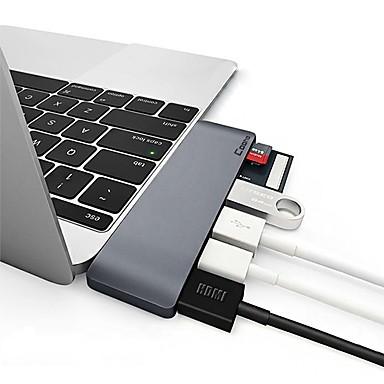 Недорогие Кейсы для iPhone-Сплав Серебряный / Серый USB-концентратор 0 cm