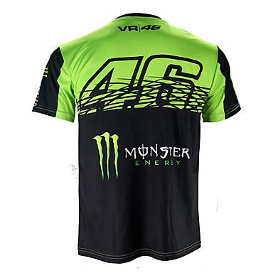 voordelige Motorjacks-motogp t-shirt rijden pak motorfiets vr46 ridder locy katoenen korte mouwen race pak t-shirt