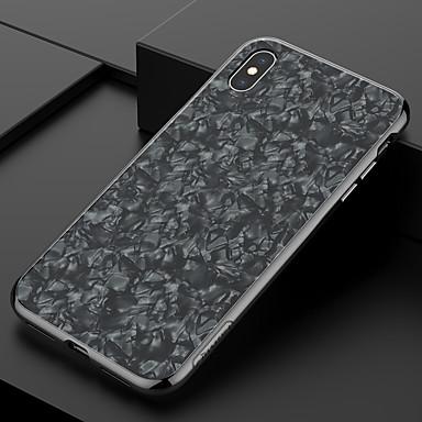 Недорогие Кейсы для iPhone-Кейс для Назначение Apple iPhone XR / iPhone XS Max Защита от удара / С узором / Сияние и блеск Кейс на заднюю панель Пейзаж / Масляный рисунок Твердый Закаленное стекло / ПК