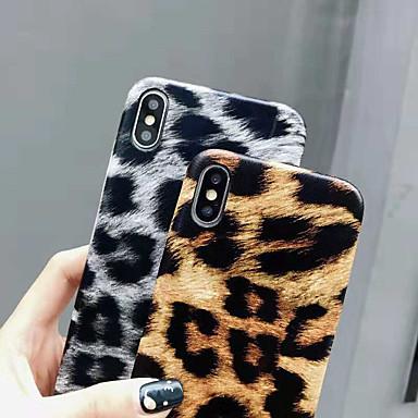 voordelige iPhone-hoesjes-hoesje Voor Apple iPhone XS / iPhone XR / iPhone XS Max Ultradun Achterkant Luipaardprint / dier Zacht PU-nahka