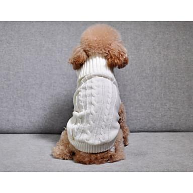 Σκυλιά Πουλόβερ Ρούχα για σκύλους Μονόχρωμο   Απλός   Ριγέ Λευκό   Σκούρο  μπλε   Ροζ dc6fbcf1ad1